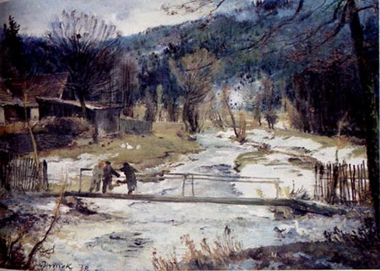 Antonin Chittussi - Konec zimy v Rozne