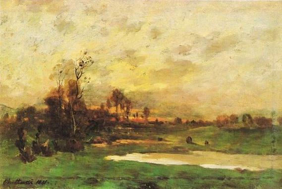 Antonin Chittussi - The landscape during sunset