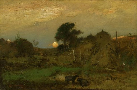 Elliott Daingerfield - Early Moon Rise