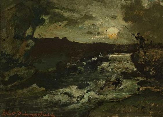 Elliott Daingerfield - Fishing by Moonlight