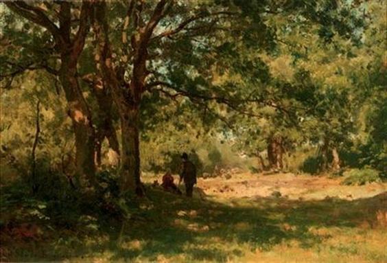 Julius Jacobus Van De Sande Bakhuyzen - Minding the sheep