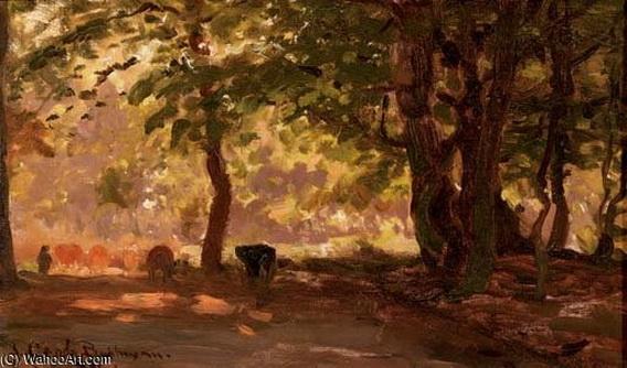 Julius Jacobus Van De Sande Bakhuyzen - A forest path