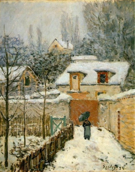 Alfred Sisley  Neige a Louveciennes