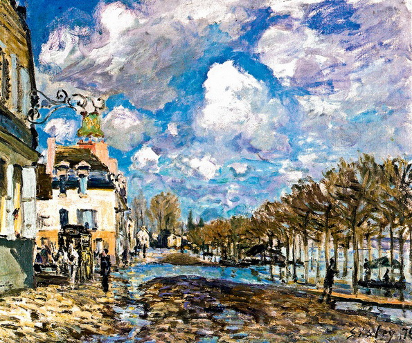 Alfred Sisley  The Flood at Port-Marly