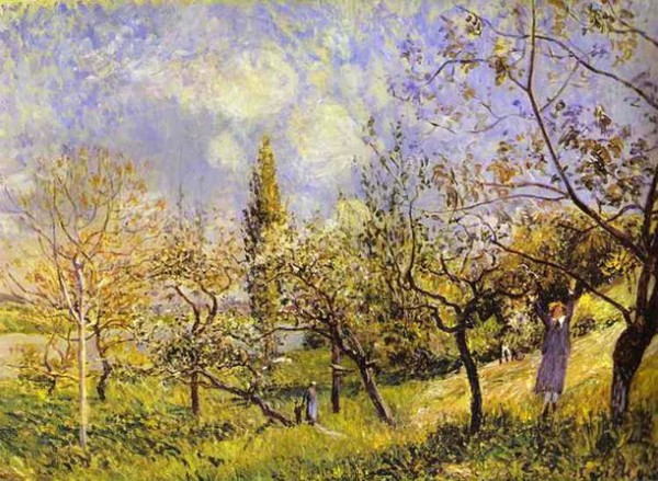 Alfred Sisley Orchard весной