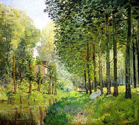 Alfred Sisley Rest by the Bank of the Ruisseau
