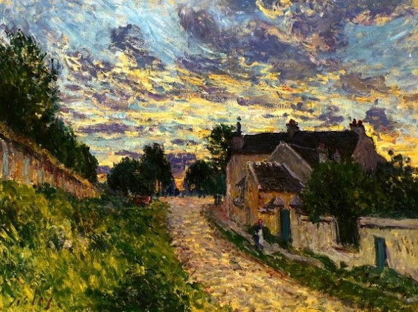 Alfred Sisley  A Path in Louveciennes