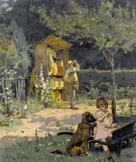 Simon Durand - Garten mit Imker