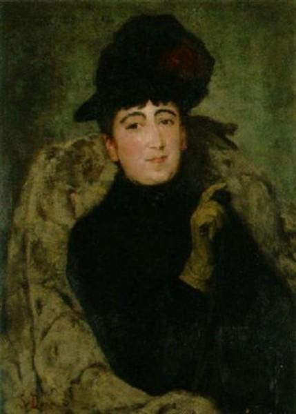 Simon Durand - Portrat einer Dame