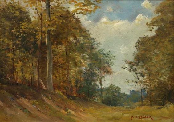 Dedrick Brandes Stuber - Trees in a landscape