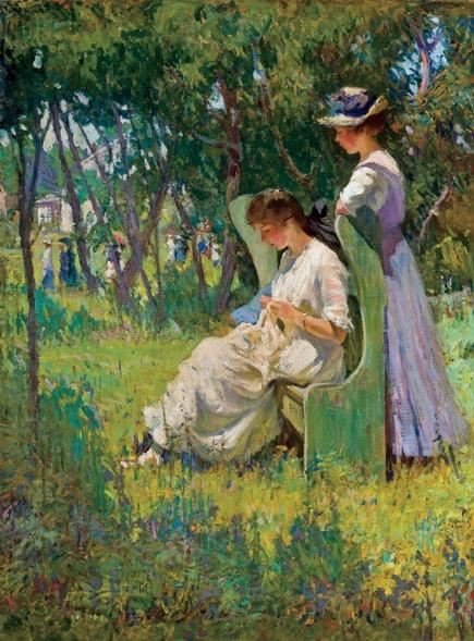 Mary Bradish Titcomb - Two Girls, Old Lyme