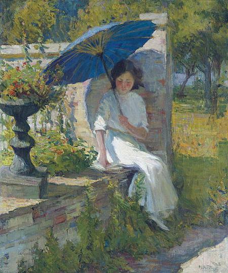 Mary Bradish Titcomb - The Blue Parasol