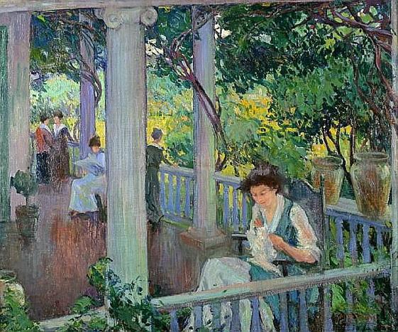 Mary Bradish Titcomb - The Park Bench