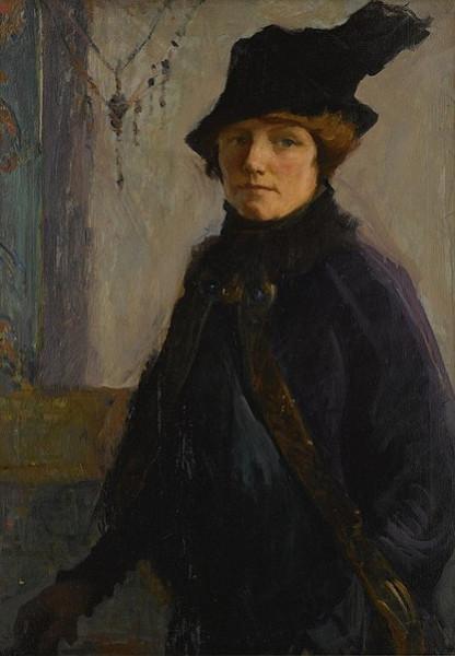 Mary Bradish Titcomb - Self Portrait In Purple Velvet