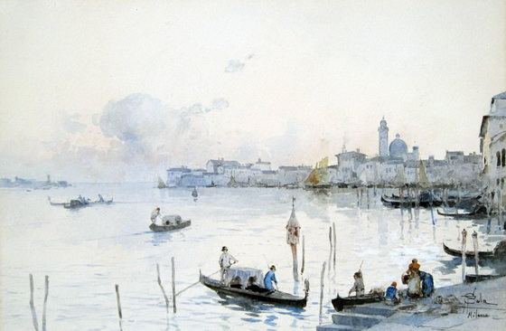 Paolo Sala - Venetian Gondoliers