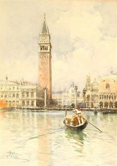 Paolo Sala - View of Piazza San Marco form the Canal
