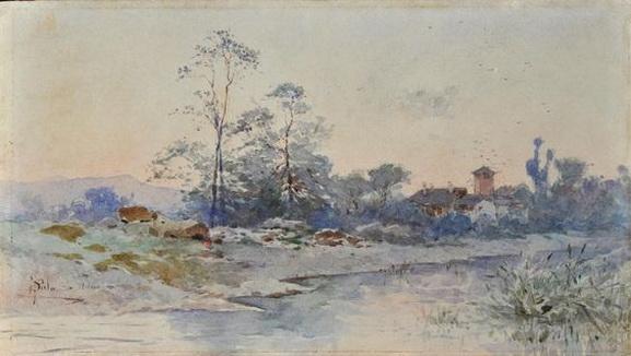 Paolo Sala - Paesaggio acquerello su carta