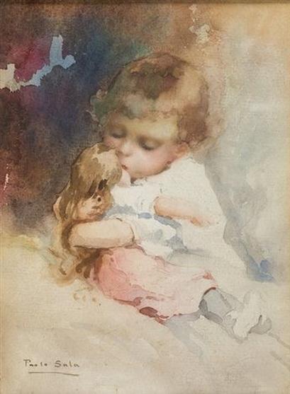 Paolo Sala - Kleinkind mit Puppe im Arm