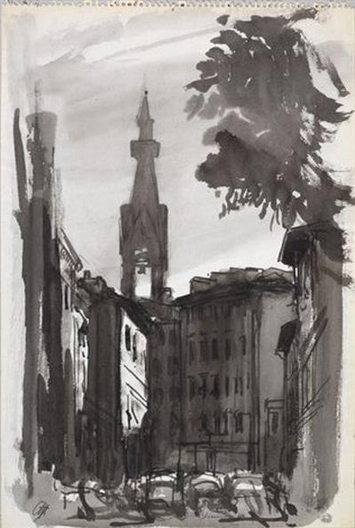 Pietro Annigoni - Veduta di Firenze