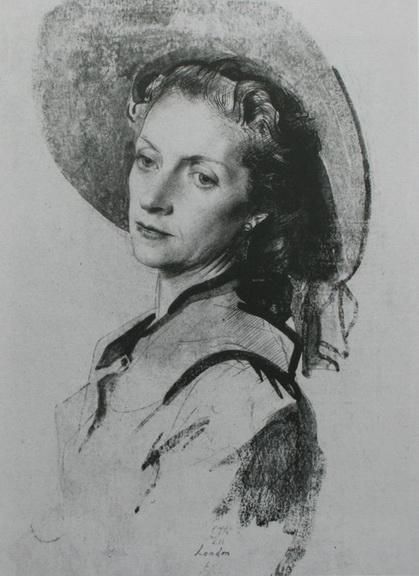 Pietro Annigoni - women in a hat