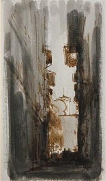 Pietro Annigoni - Strada di citta