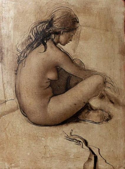 Pietro Annigoni - Croquis de nu