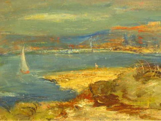 Lloyd Rees - Yacht on Sydney Harbour