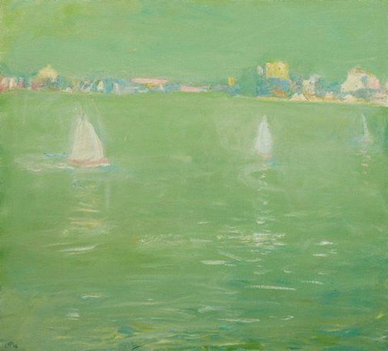 Lloyd Rees - Three boats Lane Cove River
