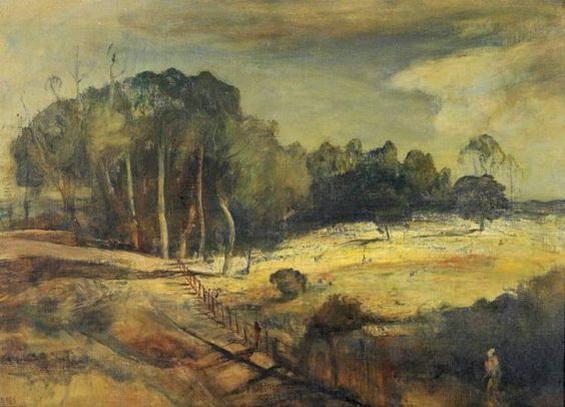 Lloyd Rees - Sunlit field Eastwood