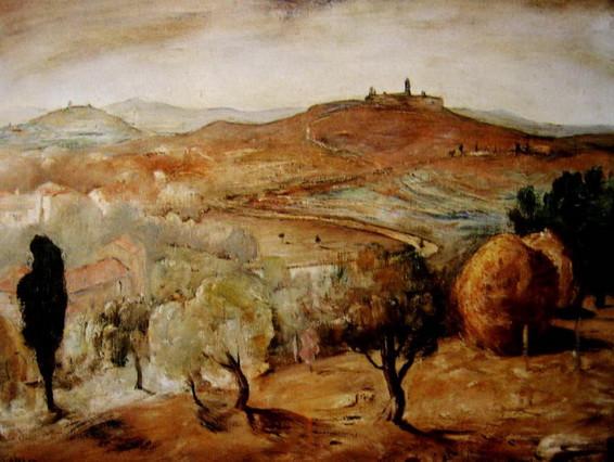 Lloyd Rees - Near Volterra, Tuscany