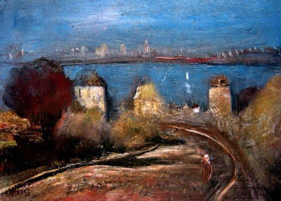 Lloyd Rees - City Skyline from Northwood