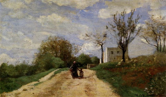 Camille Corot - The Path Leading to the House
