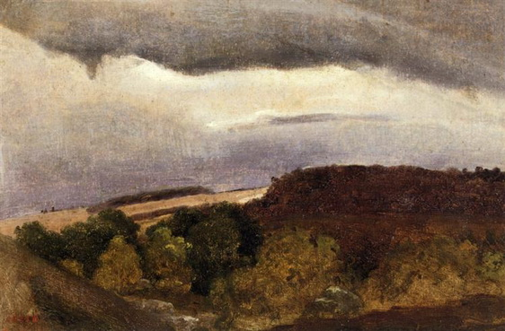 Camille Corot - Wooded Plateau, Fountainebleau