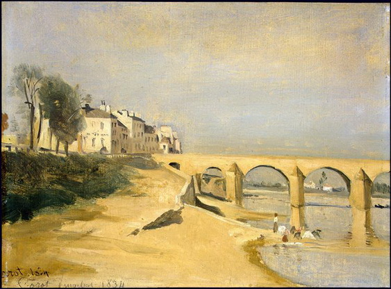 Camille Corot - Bridge on the Saone River at Macon