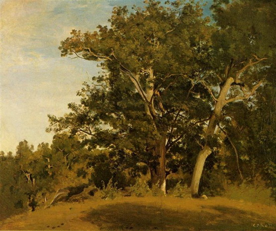 Camille Corot - Fountainebleau With Georges d'Apremont