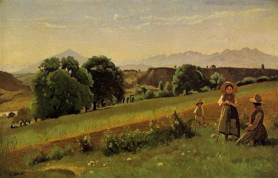 Camille Corot - Landscape at Mornex, Haute Savoie