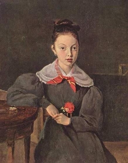 Camille Corot - Portrait of Octavie Sennegon