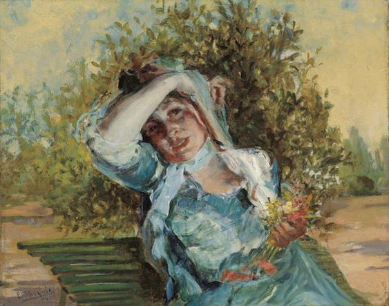 Emilio Sala Frances - Girl with Flowers