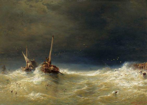 Eduard Hildebrandt - Sea storm