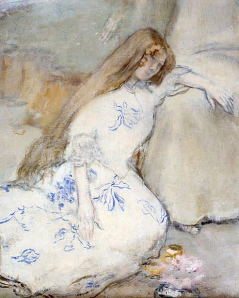 Jean-Francois Raffaelli - A Young Girl Resting