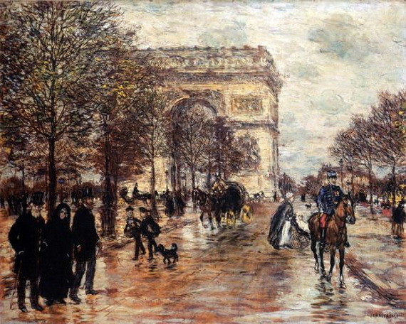 Jean-Francois Raffaelli - The Champs-Elysees