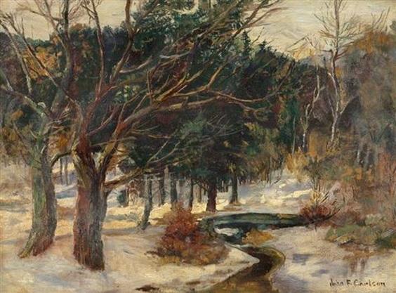 John Fabian Carlson -  Winter Stream