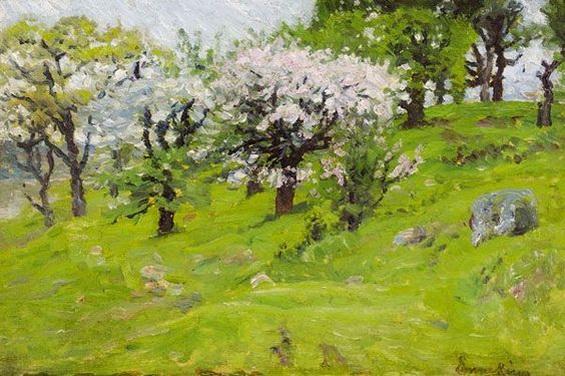 John Joseph Enneking - Spring Landscape