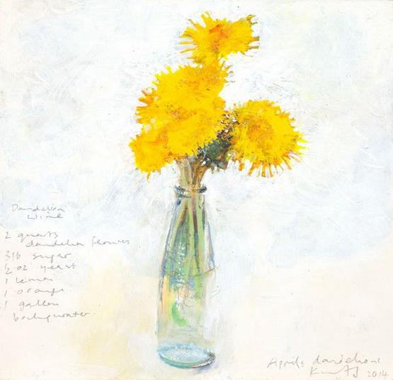 Kurt Jackson - April's dandelions