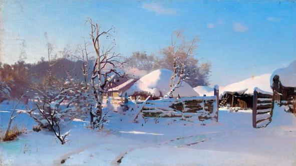 Дубовский - Деревня зимой