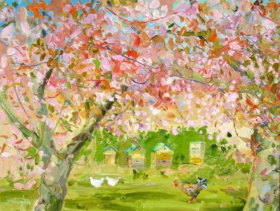 James Harrigan - Beehives in the Orchard