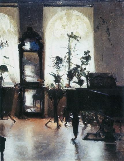Левченко Петро - Интерьер с роялем