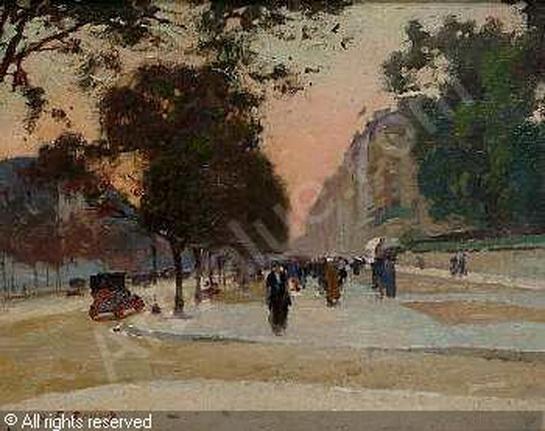 Jules Ernest Renoux -  Avenue des CHamps Elysees