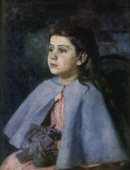 Костанди - Девочка в голубой пелерине