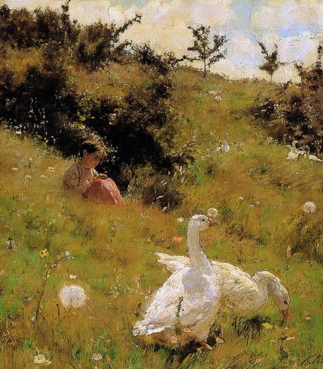Костанди - Девочка с гусями